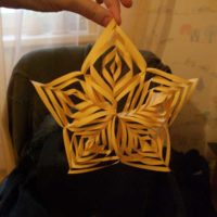 3D star origami instruction