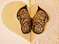 detail papercut butterfly