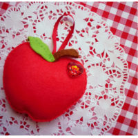 Felt DIY_red apple