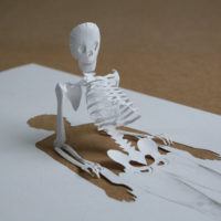 Fun Papercut Art_skeleton