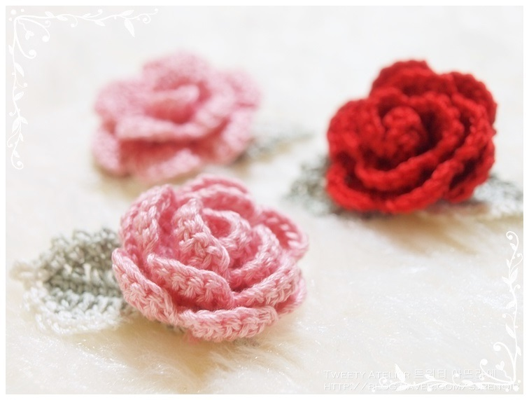 card craft for valentine day - How to make hand knitted rose DIY step by step tutorial