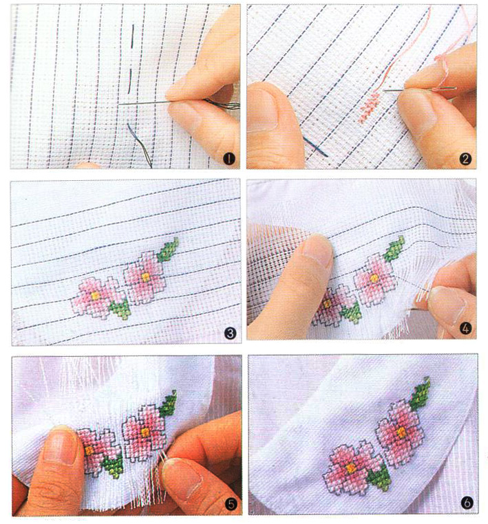 stitching designs on other materials can be accomplished by using