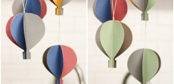 Paper Hot Air Ballon Garland