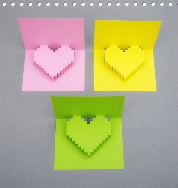 How To Make 3d Heart Shape Greeting Card