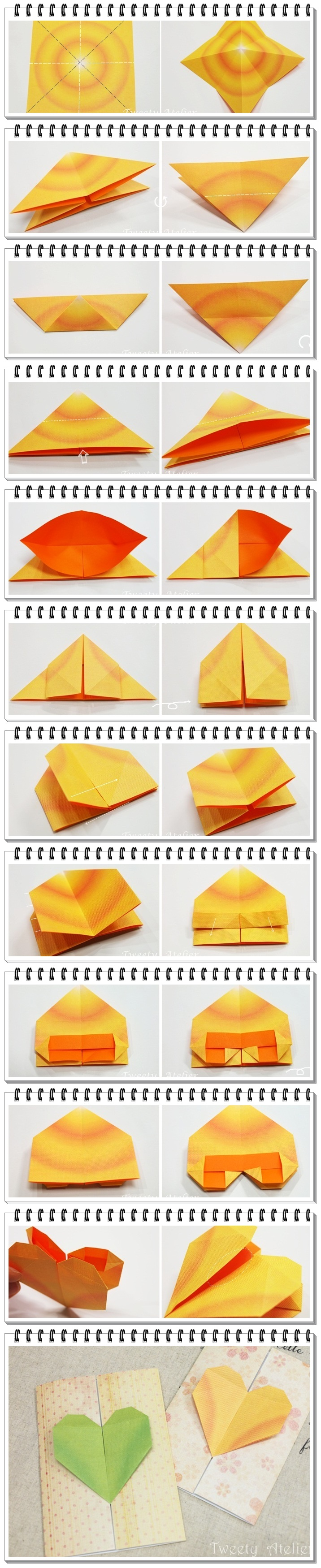 How to make origami paper heart for How to make easy crafts step by step