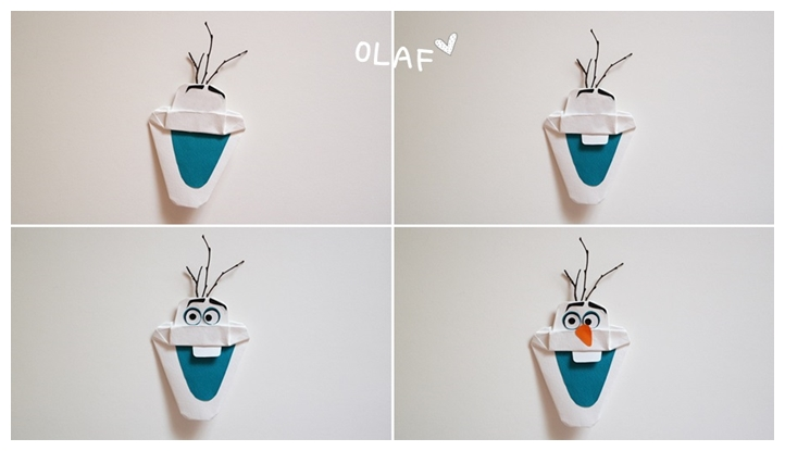 How to make Frozen Olaf Origami step by step tutorial instruction ...