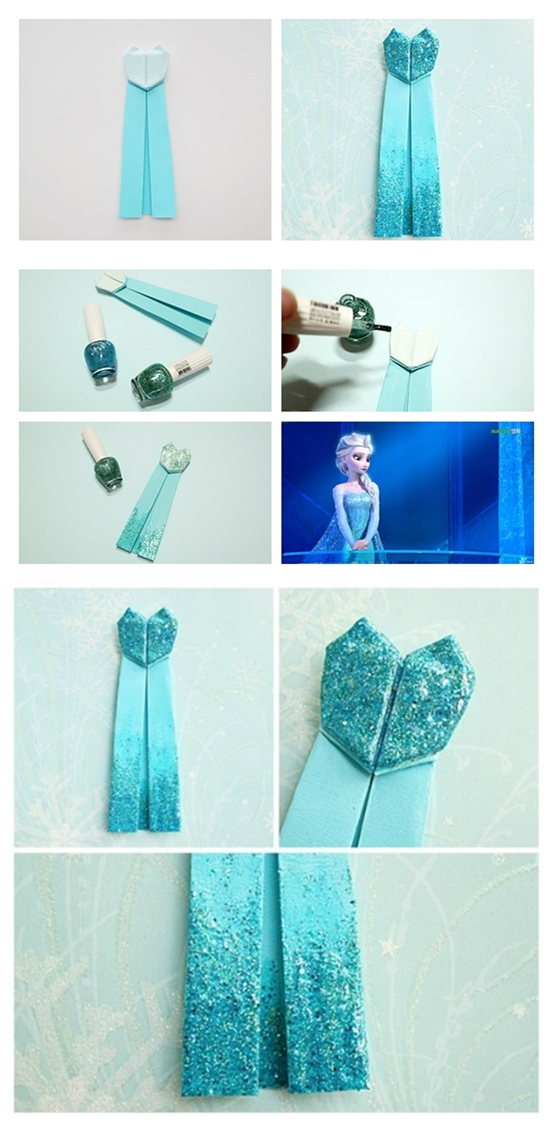 How to make Frozen Elsa Origami tutorial instruction | Welcome Craft