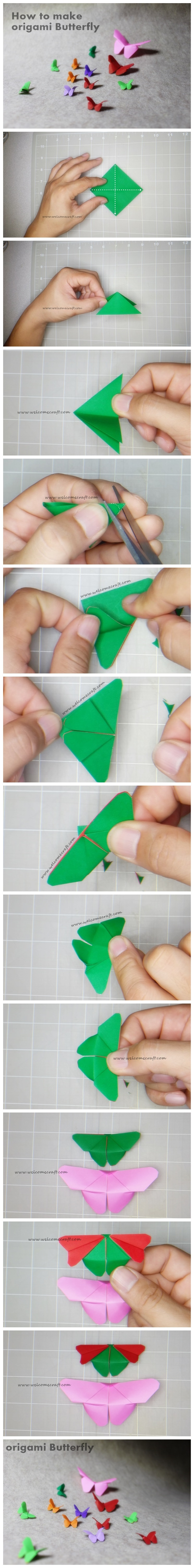 DIY Origami Fabric Butterfly Free Sewing Pattern & Tutorial | 6000x744