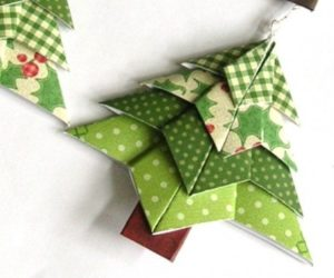 unique origami christmas tree decorations