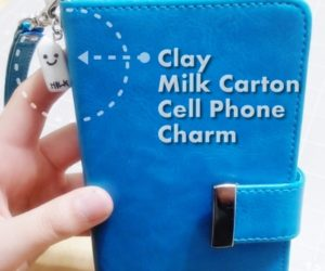 Milk Carton Cell Phone Charms