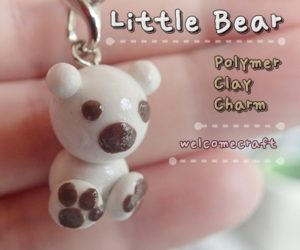 Little Bear Clay Charm