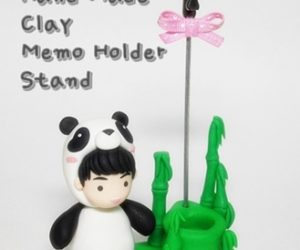 Clay Memo Holder Stand