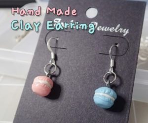 Clay Earring Macaron Instruction