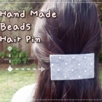 How to make felt hair pin DIY step by step tutorial instruction