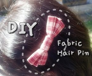 Fabric Hair Pin Instruction