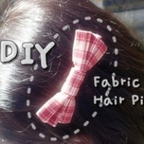 How to make fabric hair pin DIY step by step tutorial instruction