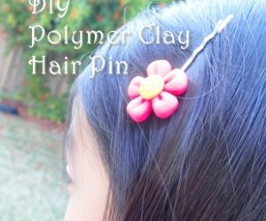 Clay Flower Pin