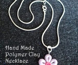 DIY Polymer Clay Flower Necklace