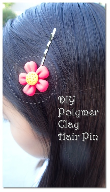 Polymer Clay Flower Pin