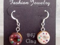 Hand Made Doughnut Earring