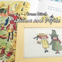 How to make cross stitch Madeline and Pepito tutorial instruction