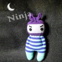 How to make Ninja Socks Dolls DIY step by step tutorial instruction