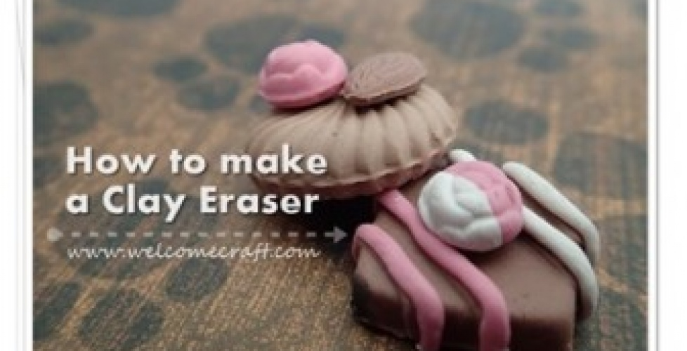 how to make eraser clay at home