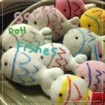 Hand Made Socks Doll Fishes
