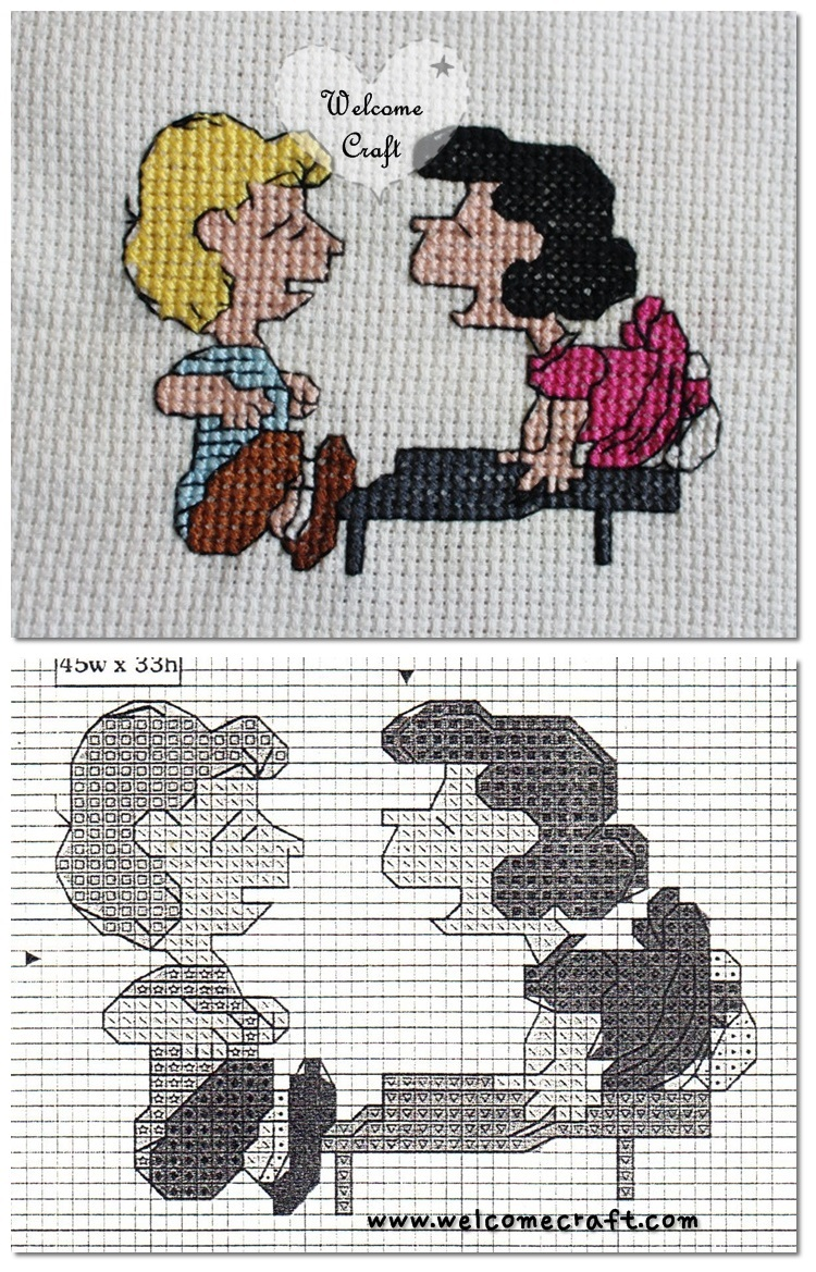 Cross Stitch Lucy and Schroeder