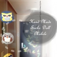 Hand Made Socks Doll Mobile