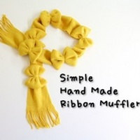 How to make a Ribbon Muffler DIY step by step tutorial instruction