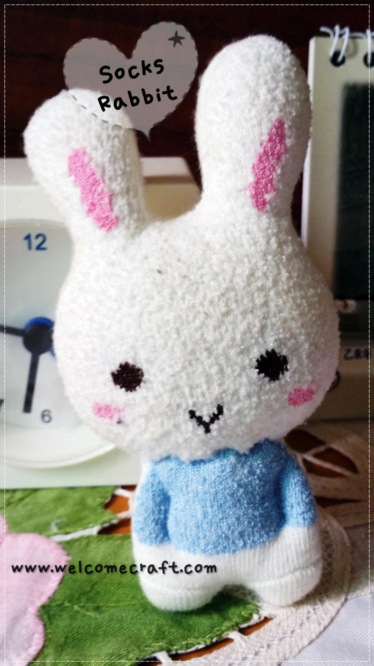Hand Made Sock Doll Rabbit