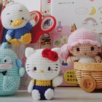Hand Knitted Hello Kitty and Friends