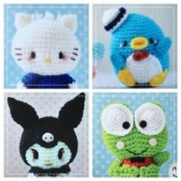 Hand Knitted Hello Kitty's Friends