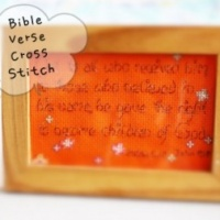 Hand Made Bible Verse Cross Stitch