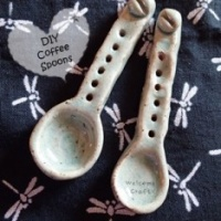 Hand Made Ceramic Coffee Spoons