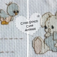 Hand Made Cross Stitch Cute Animals