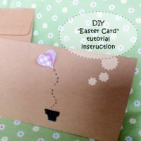 Hand Made Easter Card DIY step by step tutorial instruction
