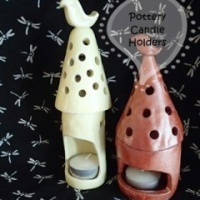 Hand Made Pottery Candle Holders