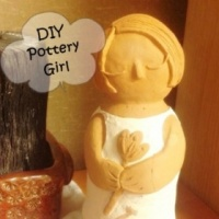 DIY Pottery Flower Girl