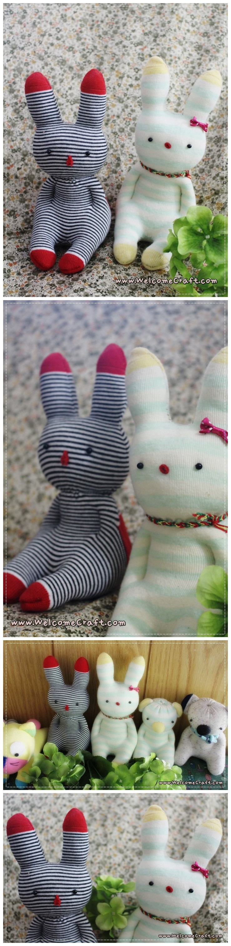 Sock Doll Easter Bunny