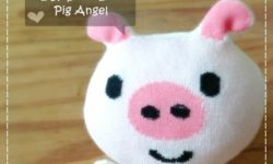 Sock Doll Pig Angel