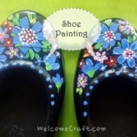 How to make Acrylic painted shoes step by step tutorial instruction