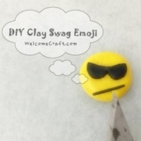 How to make Clay Swag Emoji DIY step by step tutorial instruction