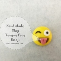 How to make Clay Emoji Smile Face DIY step by step tutorial instruction