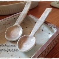 Hand Made Ceramic Spoons