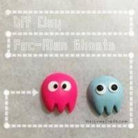 How to make clay Pac-Man Ghosts DIY step by step tutorial instruction