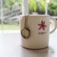 Hand Made Mother's Day Gift Ceramic Ring Necklace