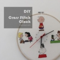 How to make Cross Stitch Clock DIY step by step tutorial instruction