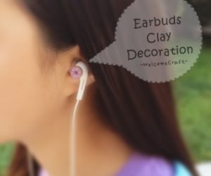 How to make clay doughnut earbuds decoration DIY step by step tutorial instruction